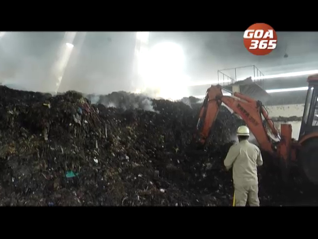 Patto garbage catches fire