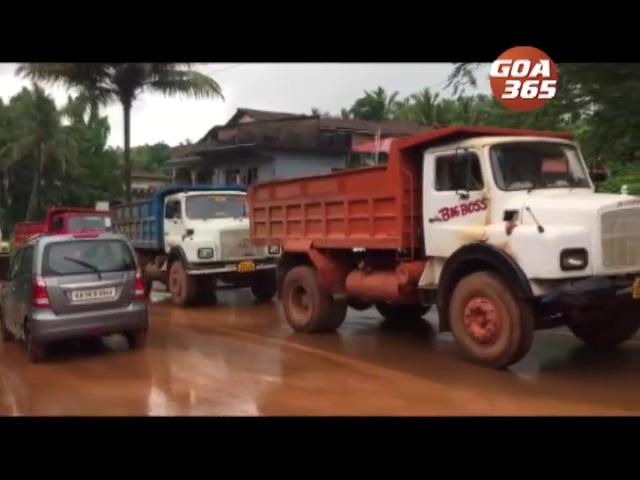 Locals raise objection towards Mining transportation at Sankhali