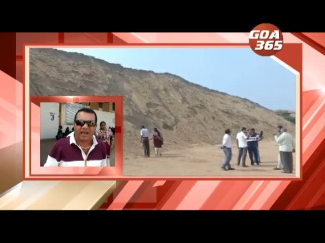 Sancoale panchayat inspects dump of  Malaysian sand