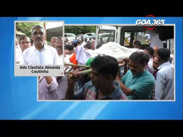 Shantaram Naik laid to rest