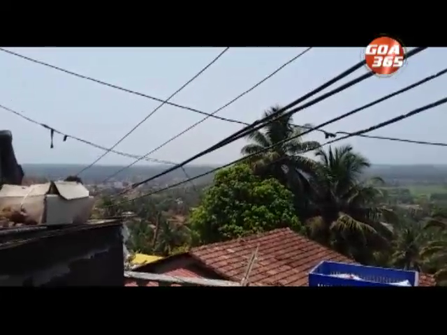 High tension wire at door entrance greets visitors in Mapusa waddo, endangering lives