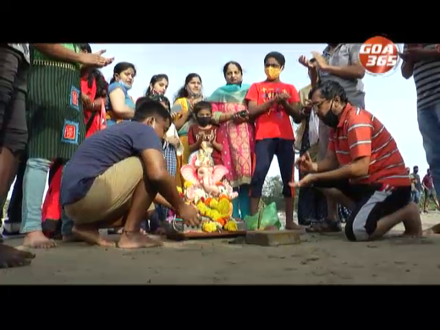 Devotees held the one and a half day visarjan today
