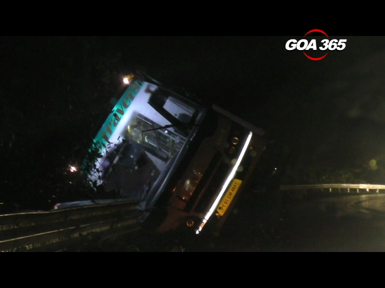 Passenger bus overturns, driver booked