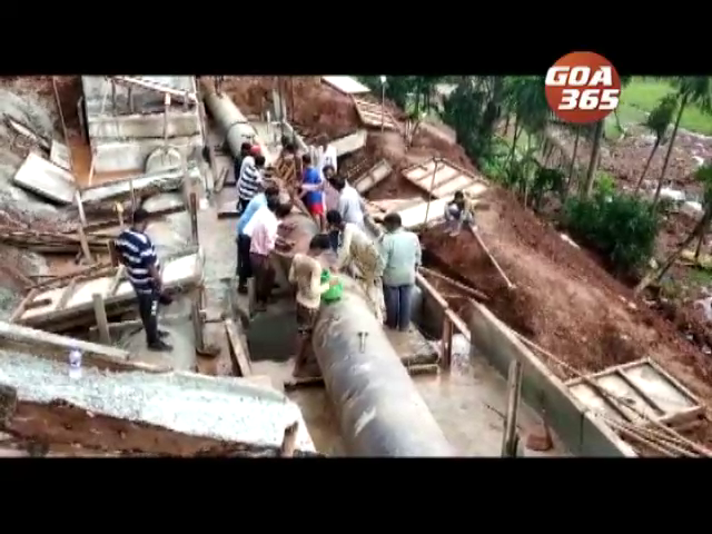 Tiswadi get water early Thursday, 2nd pipeline at Curti joined, water for rest by evening
