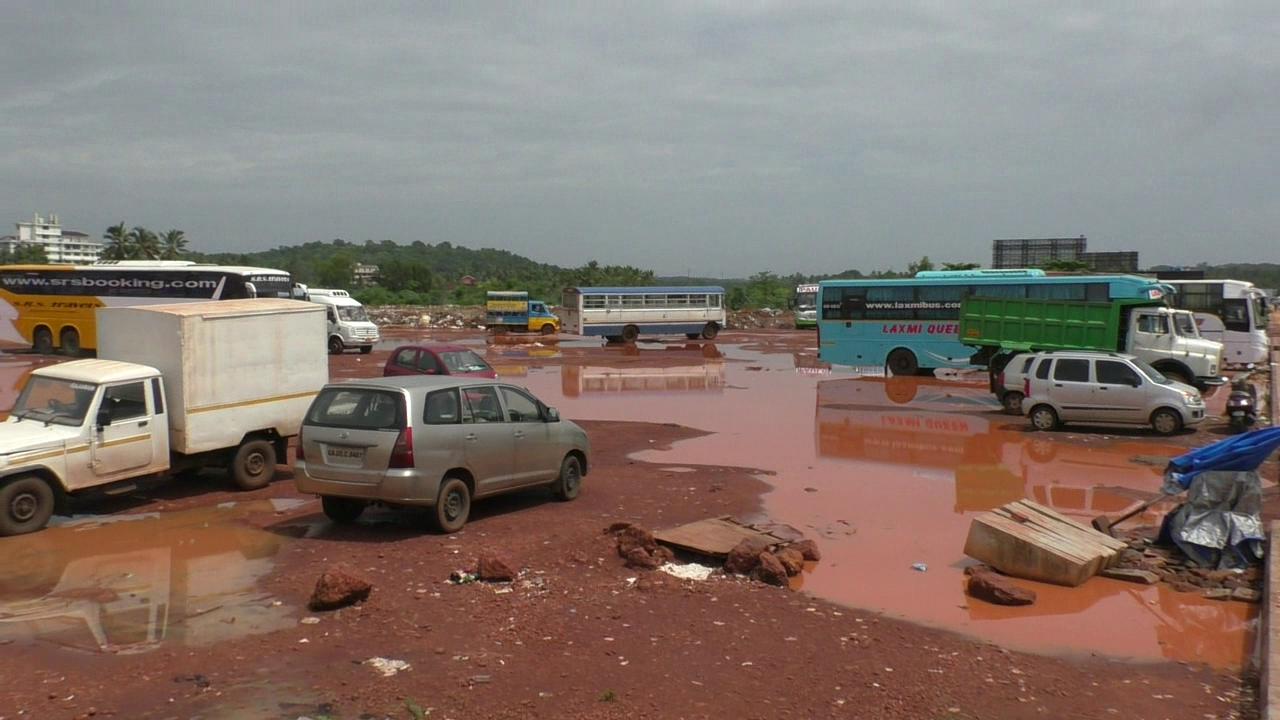 Mapusa bus stand waterlogged