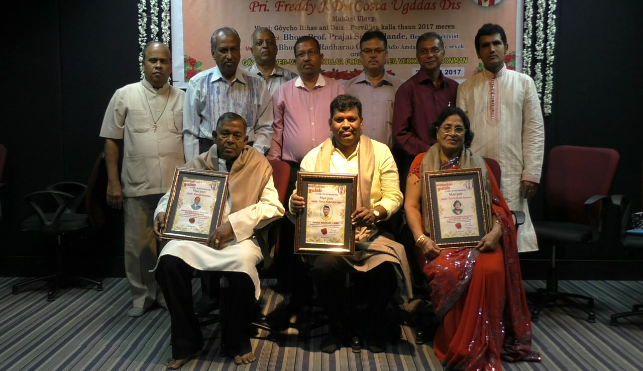 3 prominent Goans honoured with Gulab Awards