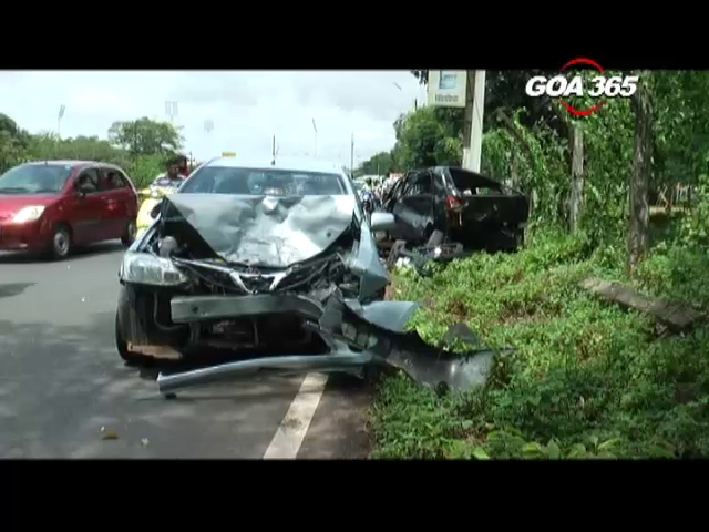 3 vehicles damaged in Bambolim accident