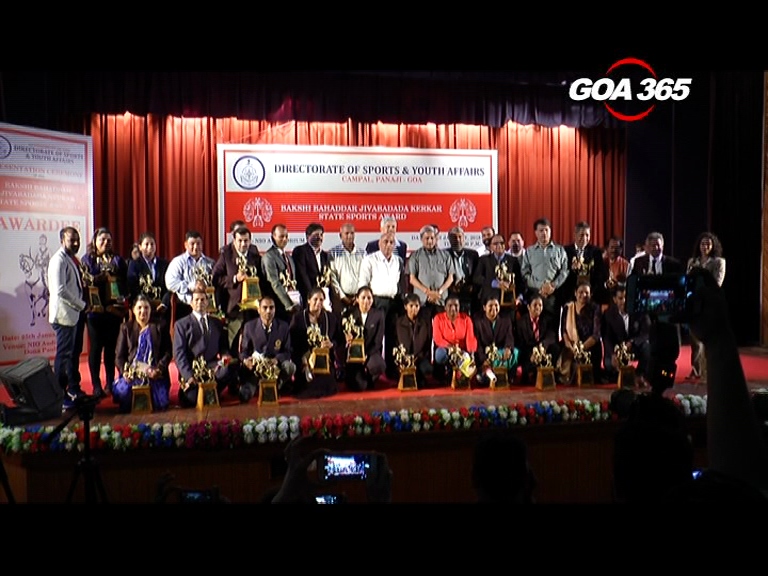 30 Sports personnel awarded Kerkar State Sports Awards