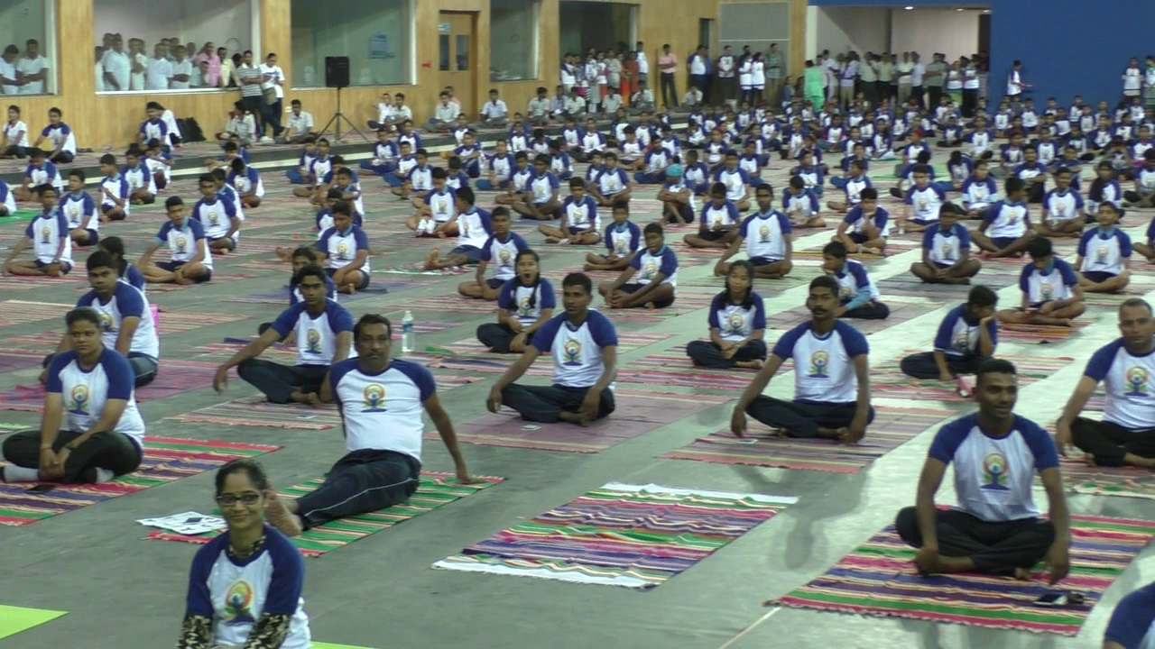 3rd International Yoga Day celebrated