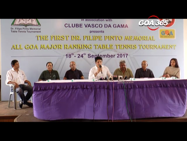 7 days All Goa Table Tennis starts from 18th Sept
