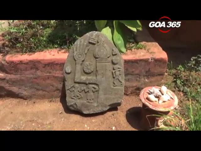 Ancient Sati stone found in Vasco