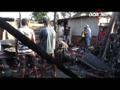 CCP laborer's house gutted in fire.