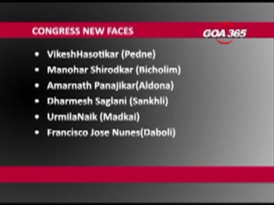 Cong declares 12 new faces; BJP only 4