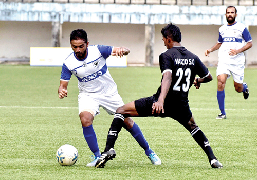 Dempo's Beevan scores 2 goals to get 3 points for Dempo SC