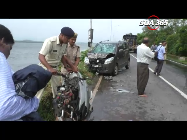 Fatal accident on Panaji Ribandar causeway, claims one life