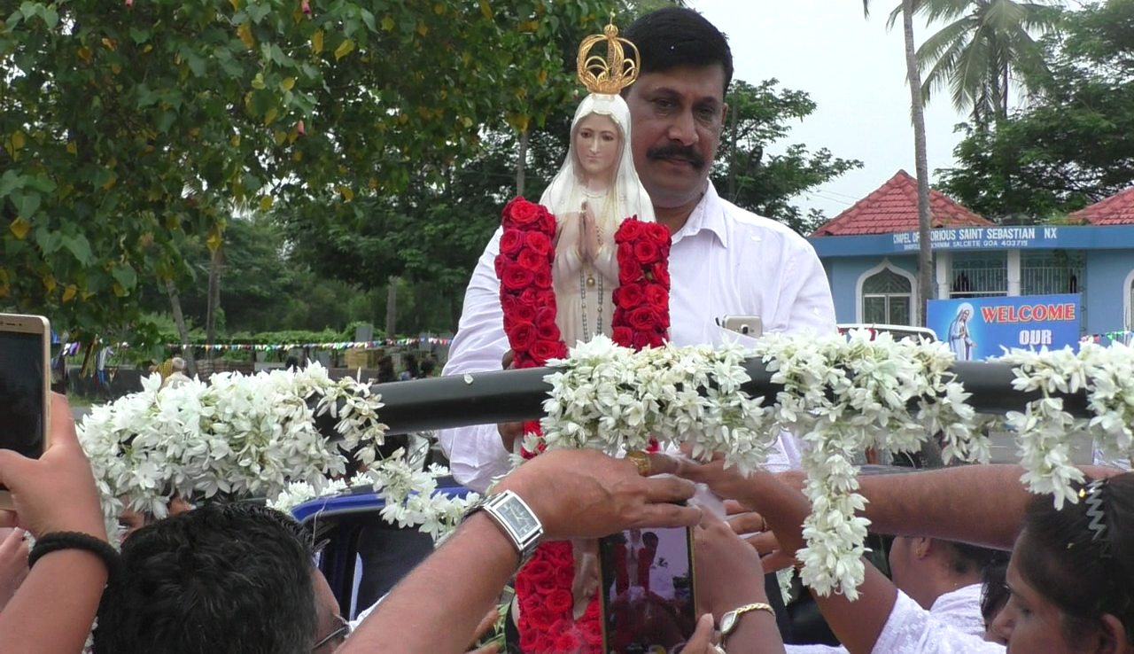 Fatima statue arrives in Goa as part of centenary celebrations of the apparition