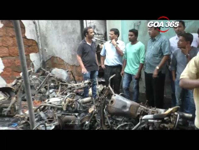 Fire in Ponda market cause loss of 20 lakhs