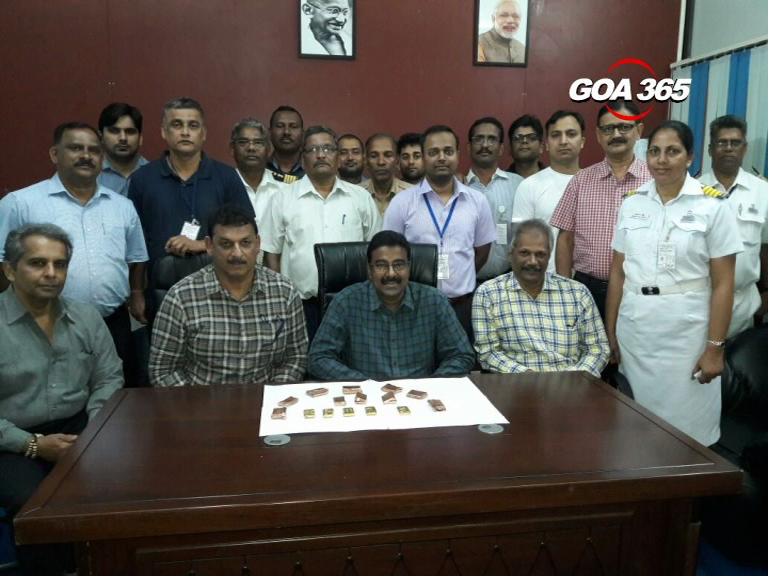 Goa Customs seizes 1240 grams of gold worth 33 lakh rupees