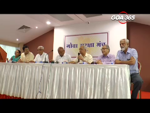 Goa suraksha manch supports nationalization of goan rivers.