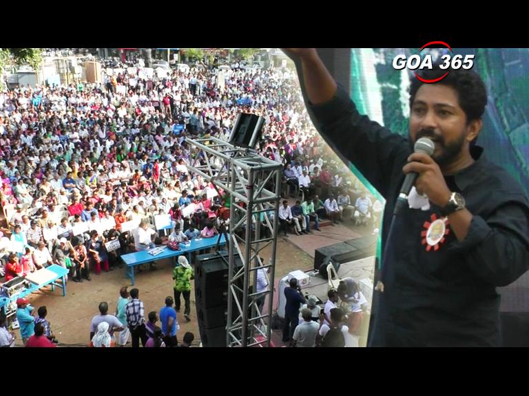 Goencho Avaz drops big names, rally draws massive crowd