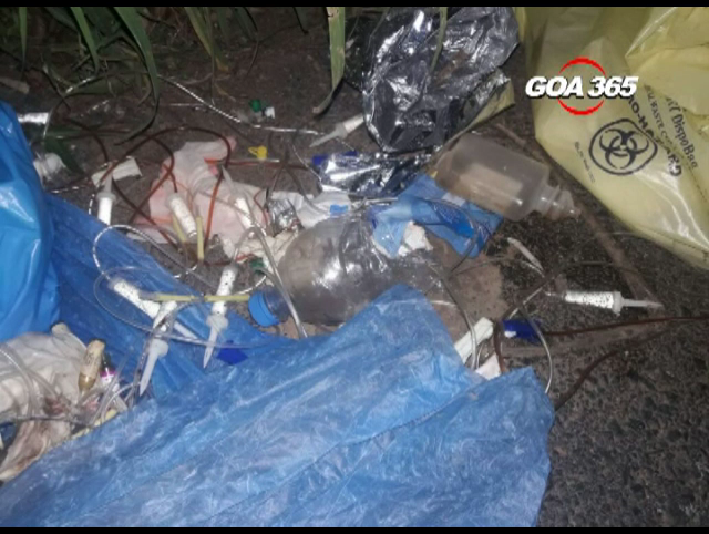 Hazardous biomedical waste dumped at Sao Jose de Arial