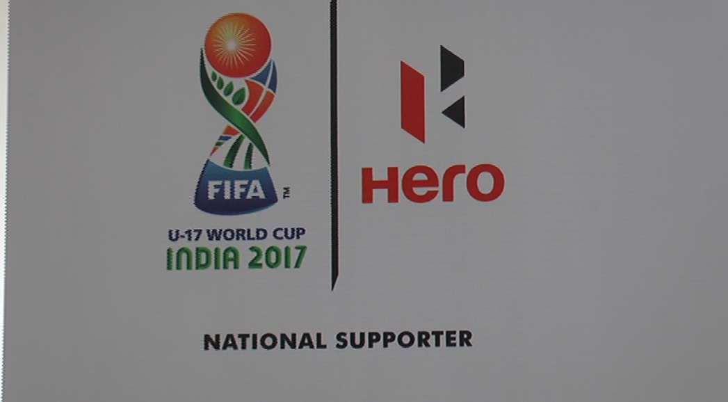 Hero motorcop displays FIFA U17 trophy