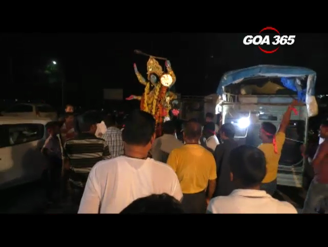 Kali Puja and religious procession held at Cuncolim