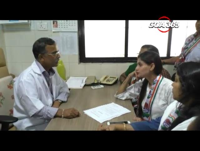 Mahila Congress hands over memorandum to community health centre valpoi