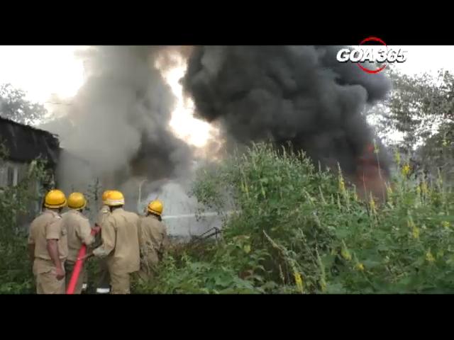 Major fire at Bicholim industrial estate