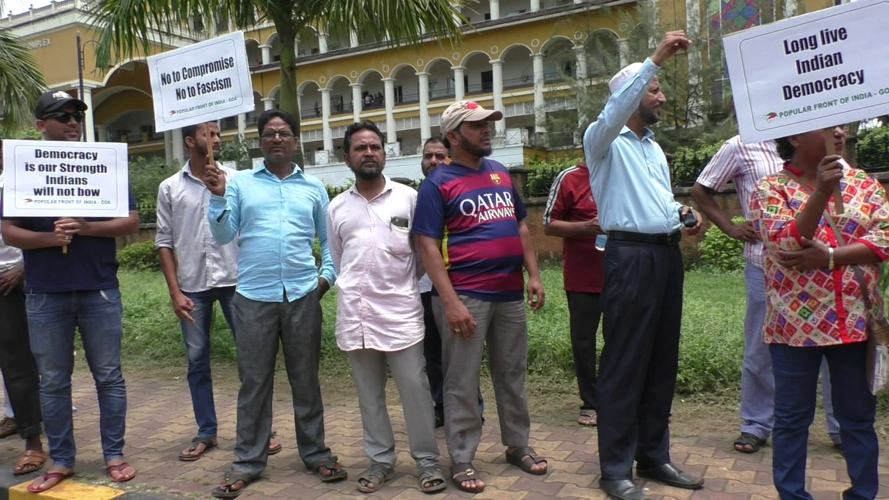 Rallies held in Madgao & Pedne protesting murder of Gauri Lankesh