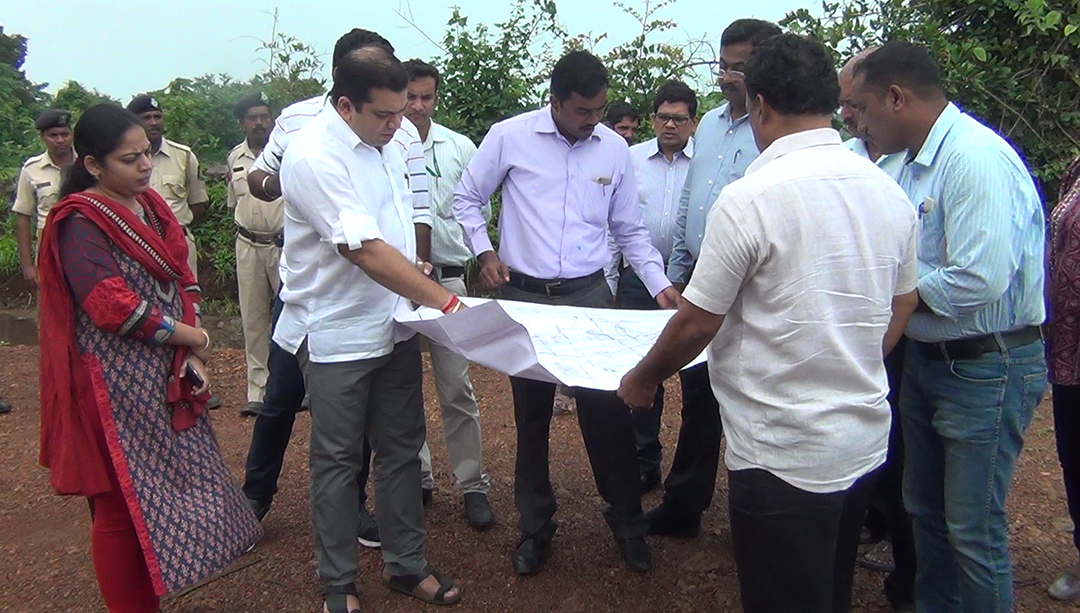 Min Rohan inspects Colvale communidade 'illegal construction' site, assures strict action