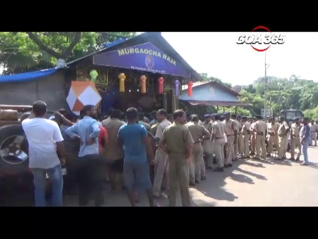 MMC demolishes controversial Ganeshotsav shed of Sada