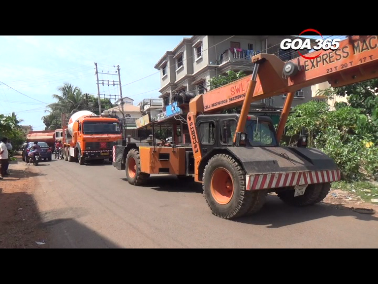 Movement of heavy vehicles restricted in Sancoale