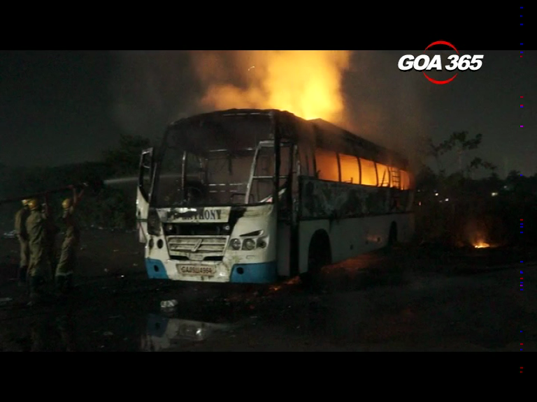 Mystery over bus fire incident in Margao