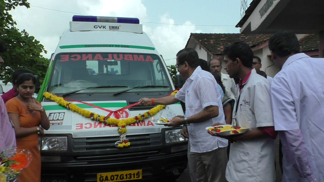 New 108 ambulance for Madkai primary health Centre