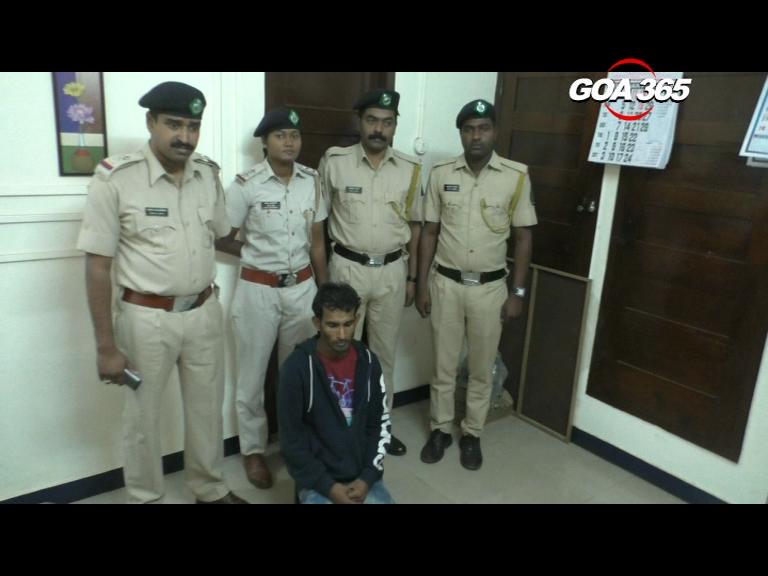 Ponda Police arrest Bihar youth for possession of Ganja