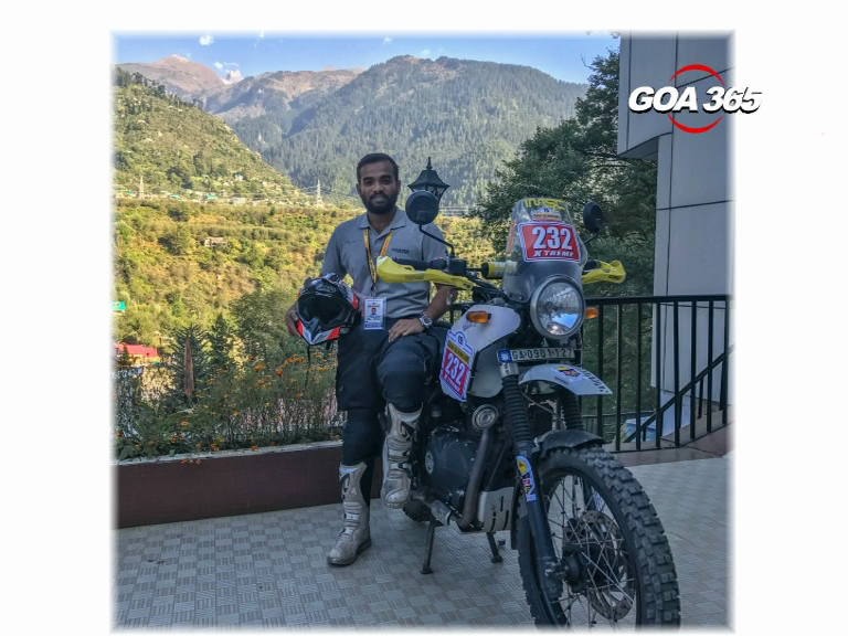 Pratik reaches heights on his bike in Himalayas