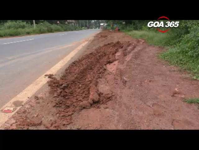 PWD offcials assures to  start soling work at slippery road stretch in Cuncolim