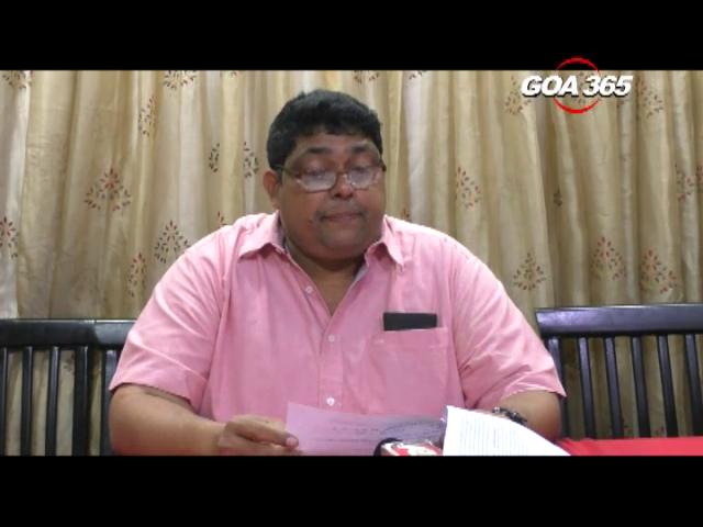 Reginald alleges CM silent on corruption at Goa State Coop Bank