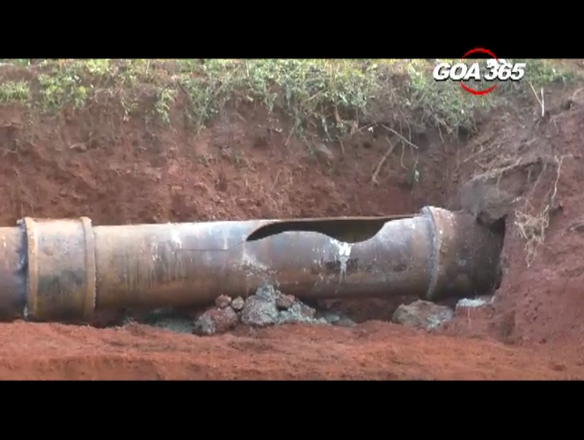 Repaired pipeline bursts again within 24 hours