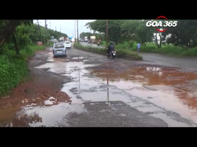 Roads leading to Verna industrial Estate lie neglected
