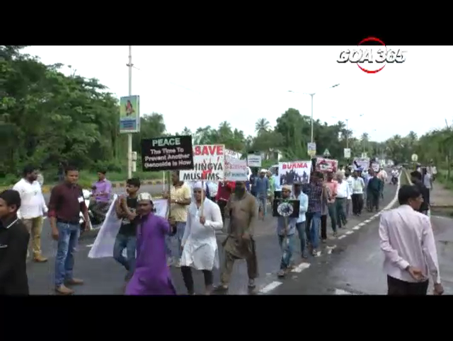 Salcete Muslims protest killings of Rohingya Muslims in Myanmar