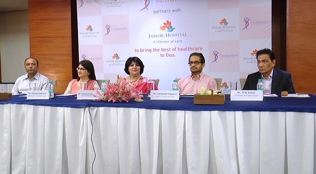 Salgaocar Hospital ties up with jaslok to provide premium sevises