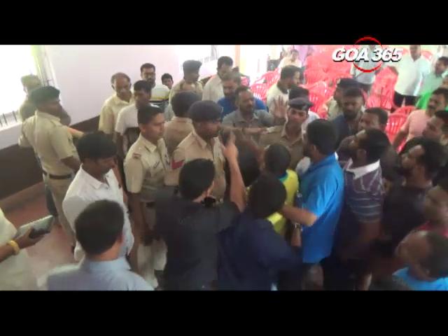 Sancoale gram sabha amidst heated arguments