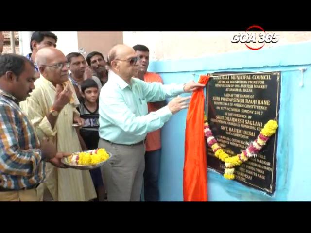 Sankhali Muncipality inaugurates market renovation without inviting local MLA