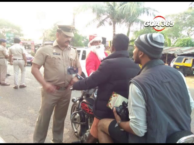 Santa Claus joins police in spreading awareness about road safety