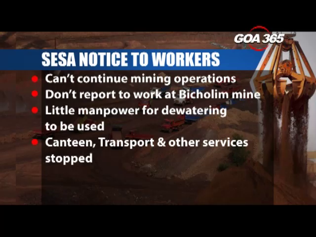 Sesa workers get first shock, workers told not to report to work