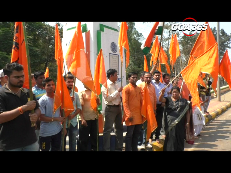 No Bandh, no Rally, Valpoi Shiv Premi hold a Dharna