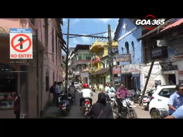 Shop owners deamand removal of 'No Entry' in Mapusa market