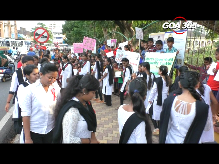 Silent rally on awareness on HIV AIDS held in Madgao